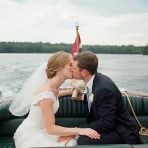 Martha Stewart Weddings — A Lakeside New Hampshire Wedding