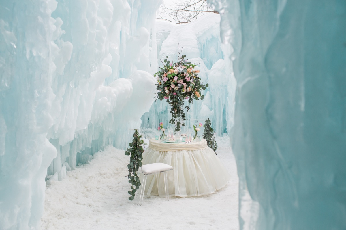 Ice Castle Wedding Inspiration Emily Herzig Floral Studio