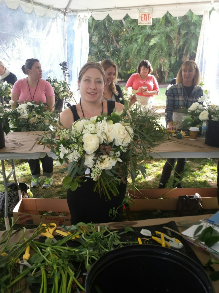 Emily Herzig Creating a Holly Chapple Style Bouquet